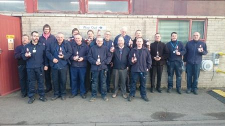 Estates and facilities team during Movember