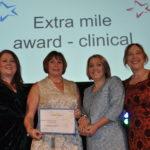 Extra mile award- clinical award winners