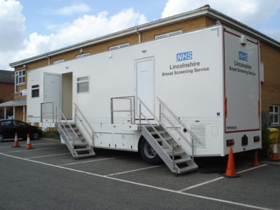 External - mobile breast screening unit | United