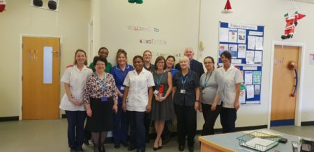 Photograph of community paediatric teamon the Kingfisher Ward at Grantham and District Hospital