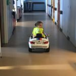 Electronic car for young patients in hospital