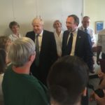 PM Boris Johnson visits Pilgrim Hospital, Boston