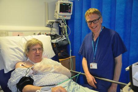 Patient, Pete Saumby and Dr David Morgan