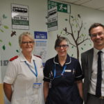 Staff involved in the dementia bus stop initiative