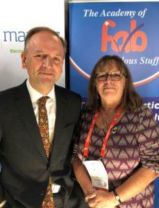 Jennie Negus and Simon Stevens, CEO of the NHS