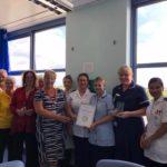 Ward 5b staff with their carers award