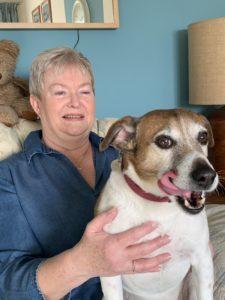 Patient Andrea Rodda and her dog Alfie