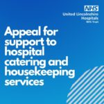 Appeal for support to hospital catering and housekeeping services
