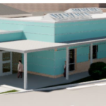 An image of the new urgent treatment centre and entrance into the Emergency Department