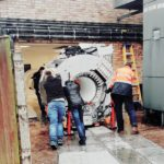 A giant magnet has been wheeled into place as part of a £1.6million investment in a new MRI scanner at Grantham and District Hospital.