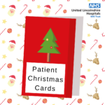 Poster promoting the Patient Christmas Cards initiative