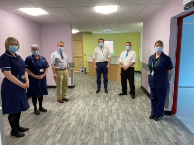 Professor Jonathan Van-Tam is pictured during a visit to the new specialist respiratory unit being built at Lincoln County Hospital