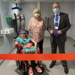 ULHT Chief Executive, Andrew Morgan, with Alisha Scowen and her mum Helen officially opening the new Changing Places facility at Pilgrim Hospital, Boston