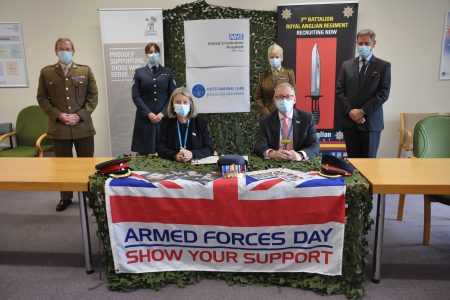 Re-signing of the Armed Forces Covenant at ULHT